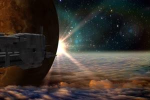 航天飞机 宇宙飞船 UFO飞船 天空科技 17  特效牛绿手机特效图片