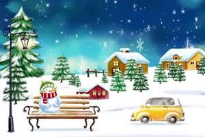 圣诞节雪人 特效牛 视频素