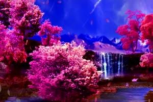 桃花 三生三世 世外桃源绿布和绿幕视频抠像素材