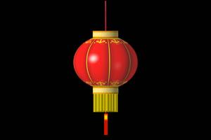无字旋转圆灯笼 春节 新年