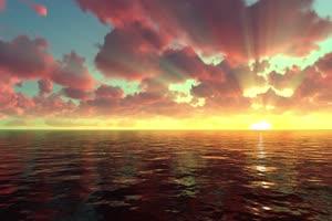 极品海天一色 海洋天空 视频背景素材 唯美至极 1