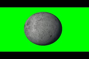 月球 月亮 旋转 绿屏抠像 特效素材手机特效图片