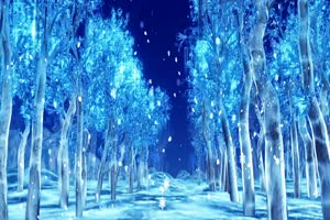 唯美飘雪 圣诞节 冬季 结