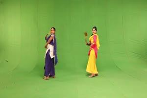 美女跳舞 其他民族 3绿布和绿幕视频抠像素材
