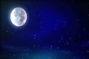 月色海面9 星空 月亮 夜晚 背景素材手机特效图片