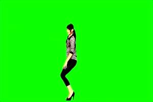 美女跳舞 其他民族 4绿布和绿幕视频抠像素材