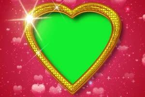 爱心 相框 绿屏抠像 巧影AE 特效素材 2手机特效图片