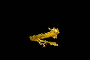 中国龙 金龙飞舞  4 透明通绿布和绿幕视频抠像素材