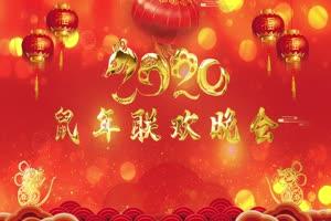 2020鼠年 元旦节 春节 新年 14拜年片头年会开场手机特效图片