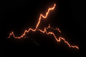 闪电 电光 透明通道 专业抠像 特效素材PR AE 09手机特效图片