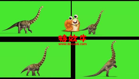 霸王龙 恐龙 动物绿幕视频素材下载 @特效牛绿幕手机特效图片