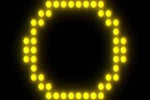 舞台背景黄色图形闪光1