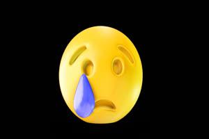 3D卡通EMOJI表情包 流泪表情