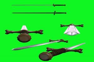 刀剑素材 御剑飞行 快手飞天特效 绿屏抠像 ae素