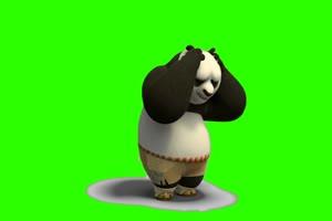 功夫熊猫 绿屏抠像 免费素材 快手 火山 特效 a