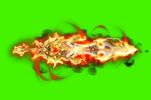 御剑飞行 绿屏抠像素材 刀剑飞天 快手飞天