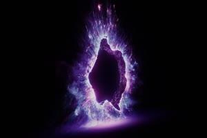 传送门  超清紫色  传送门 抠像素材 ae快手火山抖