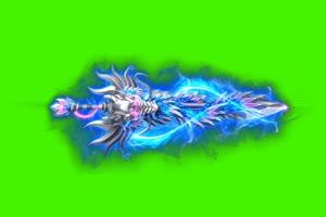 御剑飞行 绿屏抠像素材
