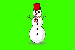Сlassic Three - Ball Snowman - Free Green Screen Effects