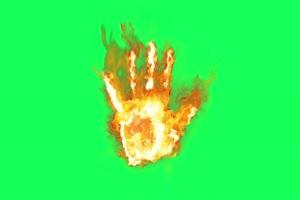 火焰手掌 武侠特效 古风绿绿布和绿幕视频抠像素材