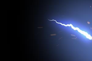 闪电 电光 电流 特效素材绿布和绿幕视频抠像素材