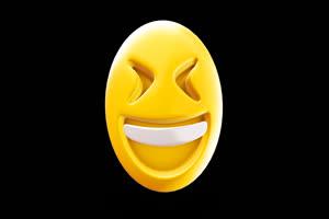 3D卡通EMOJI表情包 大笑1 带