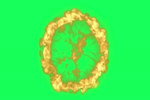 火球冲击波 武侠特效 古风绿布和绿幕视频抠像素材