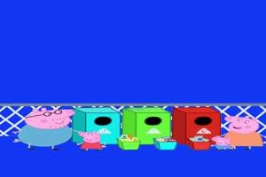 小猪佩奇废品分类抠像素