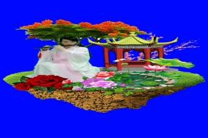 美女 107 仙女 跳舞 巧影抠像 AE抠像 绿幕素材手机特效图片