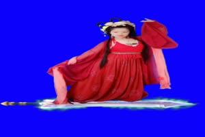 美女 194 仙女 跳舞 巧影抠像 AE抠像 绿幕素材手机特效图片