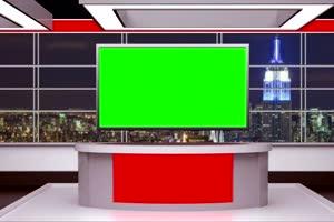 演播台 直播间 舞台 绿幕抠像 特效素材 @特效牛手机特效图片