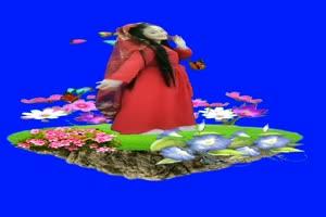 美女 61 仙女 跳舞 巧影抠像 AE抠像 绿幕素材手机特效图片