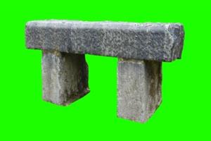 石头 石凳 绿屏抠像素材绿布和绿幕视频抠像素材