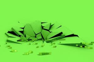 地裂特效 飞天遁地 特效素绿布和绿幕视频抠像素材