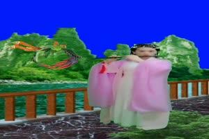 美女 74 仙女 跳舞 巧影抠像 AE抠像 绿幕素材手机特效图片