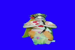 美女 140 仙女 跳舞 巧影抠像 AE抠像 绿幕素材手机特效图片