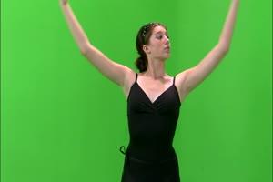 美女芭蕾 美女跳舞热舞 绿幕抠像 绿屏素材手机特效图片