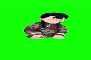 小女孩1 童年农村儿时绿幕抠像素材免费下载@特手机特效图片