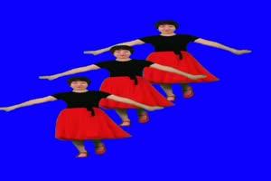 美女广场舞 绿幕素材手机特效图片