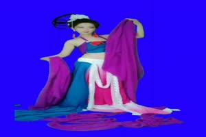 美女 155 仙女 跳舞 巧影抠像 AE抠像 绿幕素材手机特效图片