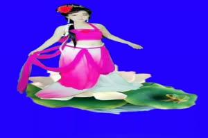 美女 161 仙女 跳舞 巧影抠像 AE抠像 绿幕素材手机特效图片