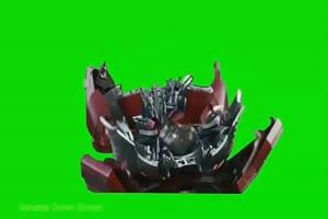 变形金刚 钢铁侠变身 复仇绿布和绿幕视频抠像素材