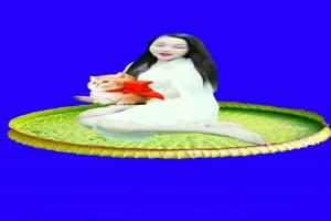 美女 136 仙女 跳舞 巧影抠像 AE抠像 绿幕素材手机特效图片