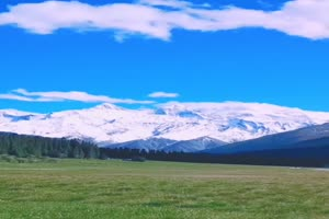 免费手机专用 雪山草原 剪映唯美风景背景视频手机特效图片