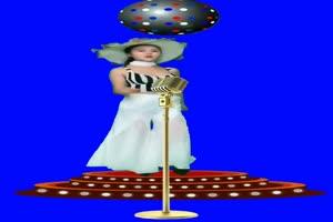 美女 唱歌跳舞 KTV演唱会 巧影抠像 AE抠像 绿幕素手机特效图片