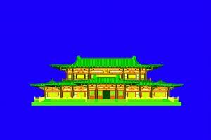 免费绿幕塔 绿幕佛塔素材 绿幕古建筑 绿幕素材手机特效图片