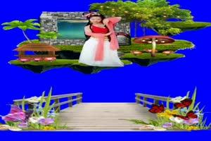 美女 167 仙女 跳舞 巧影抠像 AE抠像 绿幕素材手机特效图片