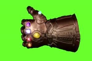 灭霸手套  复仇者联盟 绿幕素材 绿屏抠像 特效素手机特效图片