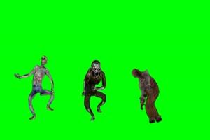 僵尸 丧尸 绿屏抠像 特效素材 10[公众号 texiao8 回