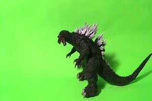 哥斯拉绿幕视频 怪兽恐龙 变异生物 13手机特效图片